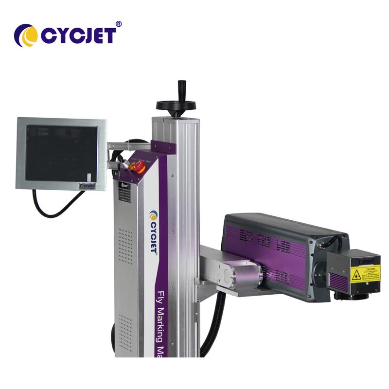 CYCJET LC30F CO2 Laser Marking Machine on Beverage Bottle