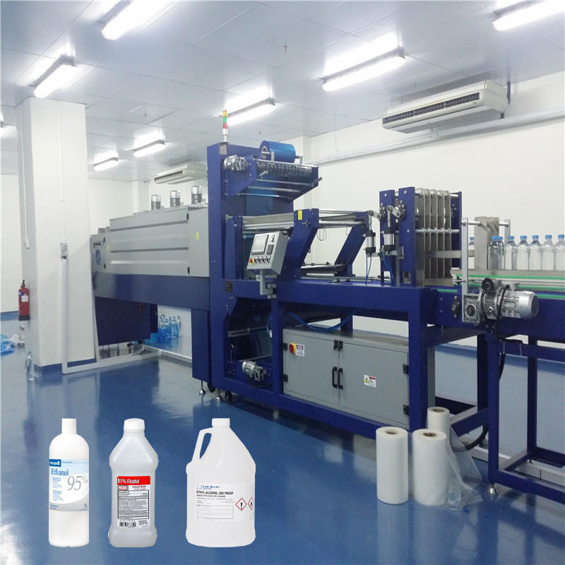 CE Alcohol Liquid Bottle Film Shrink Wrap Packing machine