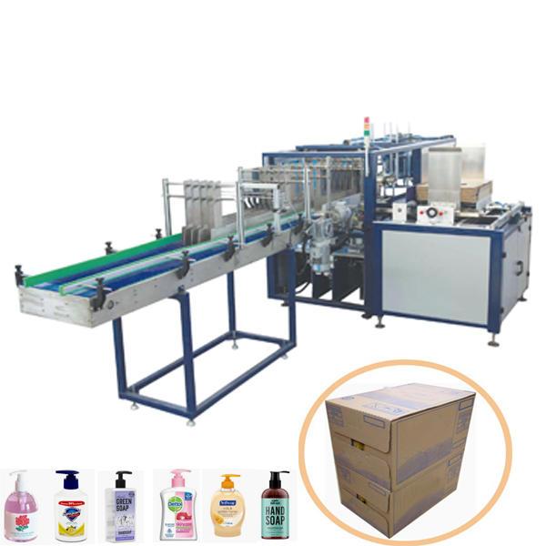 Automatic liquid hand soap carton box packing machine