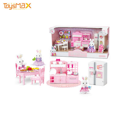 Best selling funny toys DIY kitchen doll house miniature