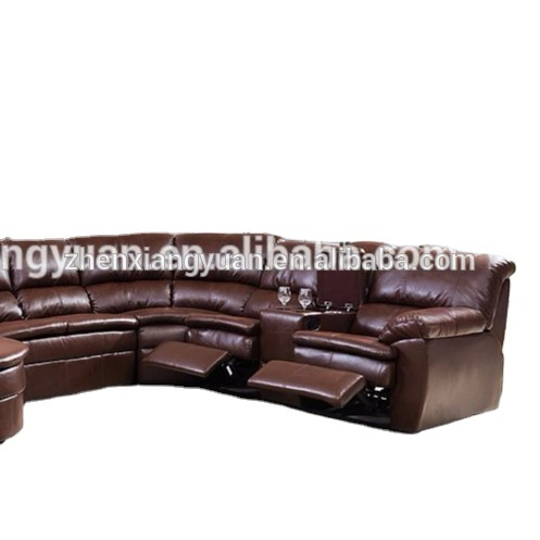 Living room furniturenew hot style 6-Piece Sectional with 2 Recliners