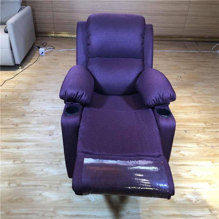 Violet Red Fabric Recliner Chair Living Room Sofa