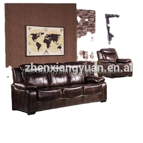2021 New design american couches antique air leather big sale sofa set