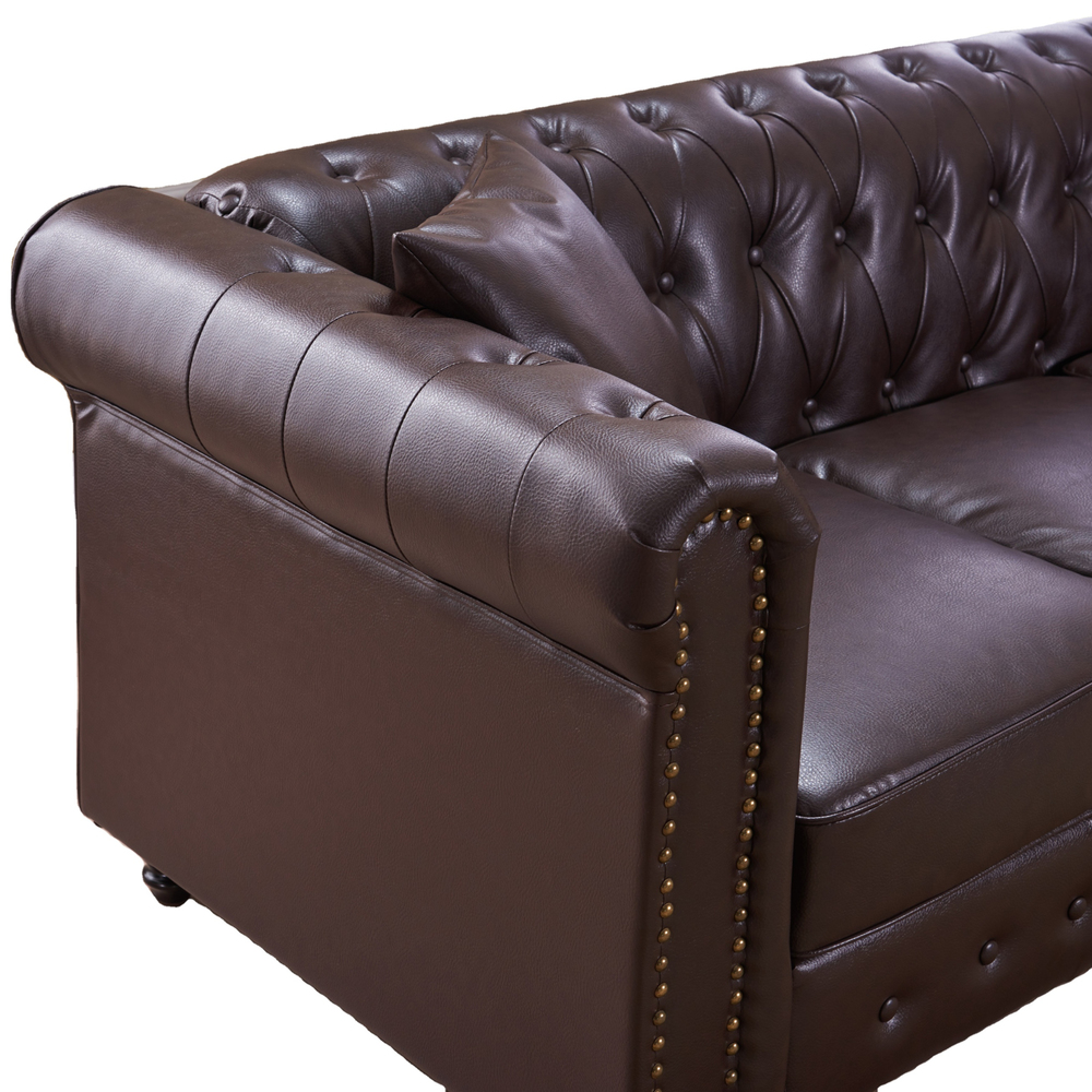2021 Home furniture Antique Appearance classic leather sofa single chair