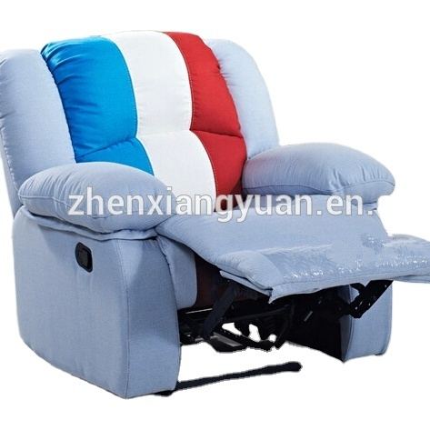 2021 Living room products promotional chairfurniture relaxing recliner chairs in suede fabric