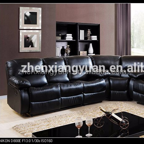 2019 Home Furnishings Transitional Motion corner Reclining Living Room Sofa Set black