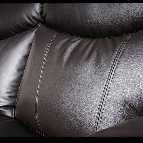 2021 Reclining Sectional Sofa withConsole Faux Leather Brown