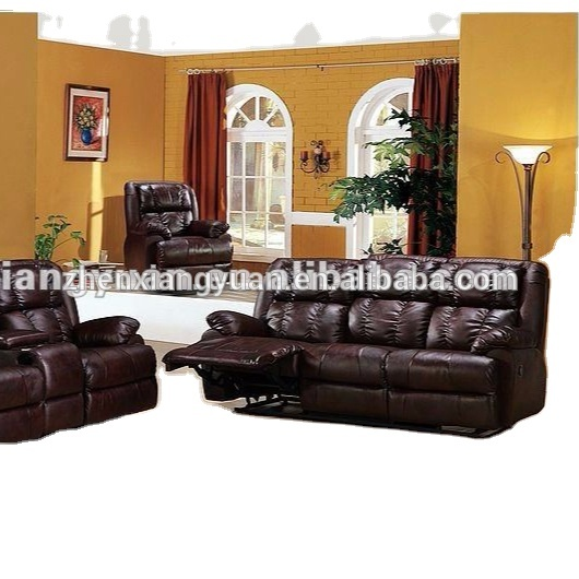 2021 sofa furnitures leather reclining sofa sets with console