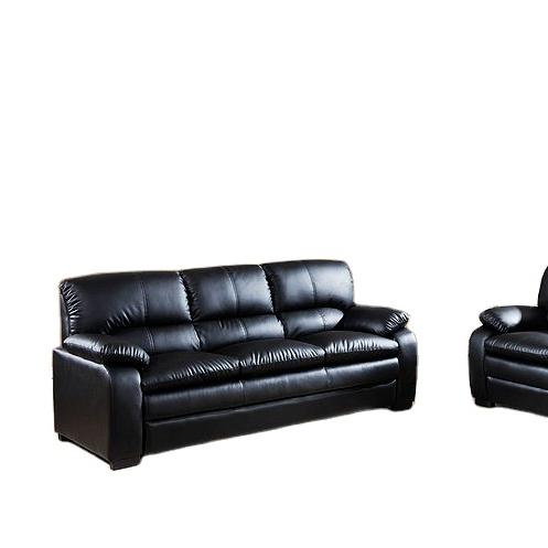 Modern design Black PU Leather Sofa and Love Seat living room Set