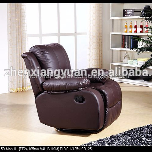Home Furnishings Casual manual recliner chair brown leather