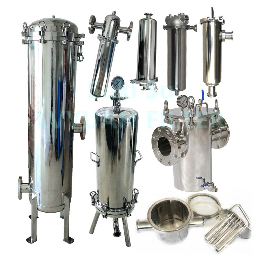 SS 304/316L Stainless Steel Magnetic Single Multi Cartridge Filter Housing for wine oil water treatment unit 10 20 30 40 inch
