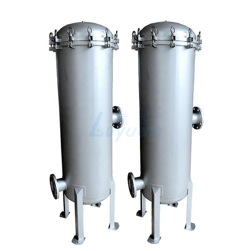 ss304 316 filtro de agua industrial alojamiento para planta de tratamiento de aguas residuales