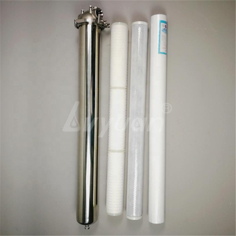 10 20 30 inch Single Round Triclamp inline cartridge filter Stainless Steel Housing