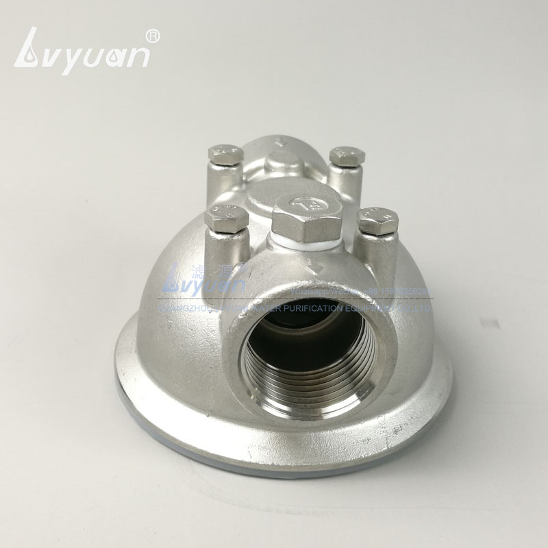 Single stage 10 20 30 40 inch stainless steel water filter cartridge housing with 5 micron pleated water filter