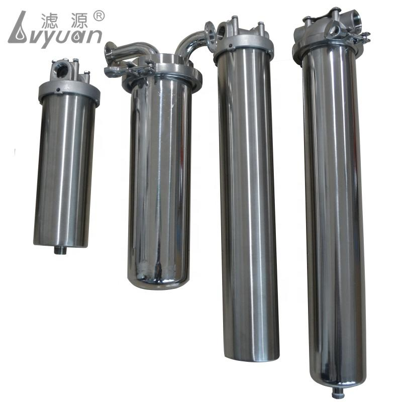 SS 316 304 Wall mounted Stainless Steel Single Cartridge Filter Housing