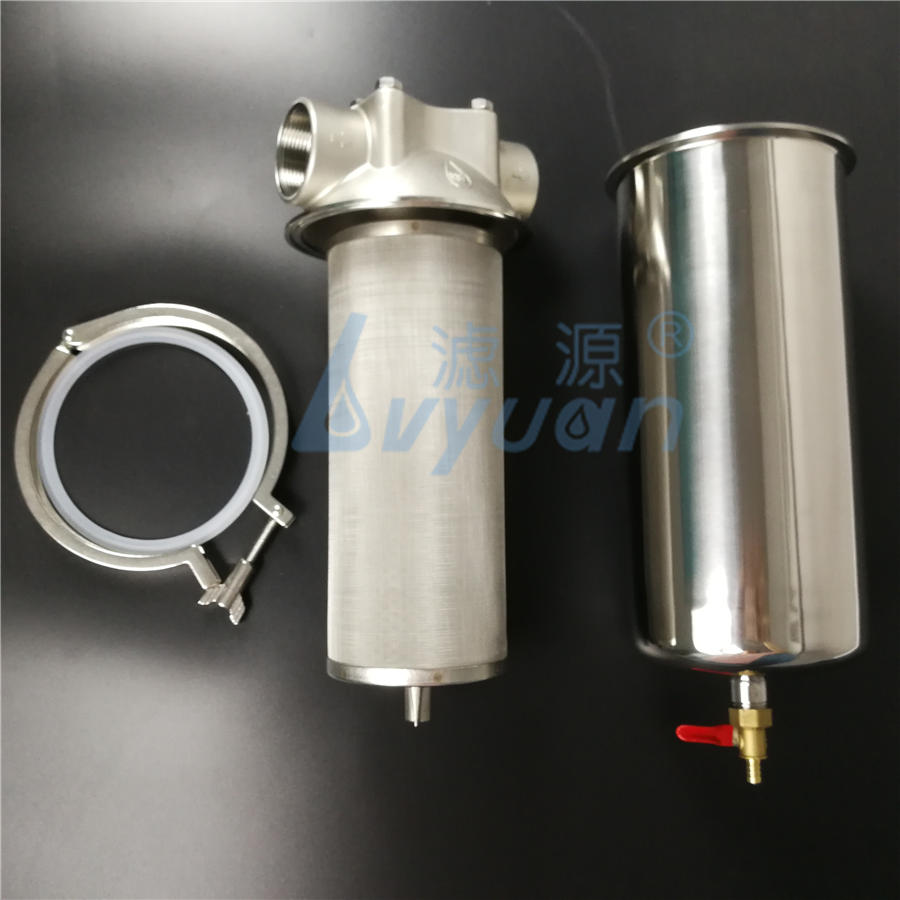 2.5''x10'' 4.5''x20'' SS304/SS316 10 inch SS stainless steel water filter housing for commercial industrial liquid filtration
