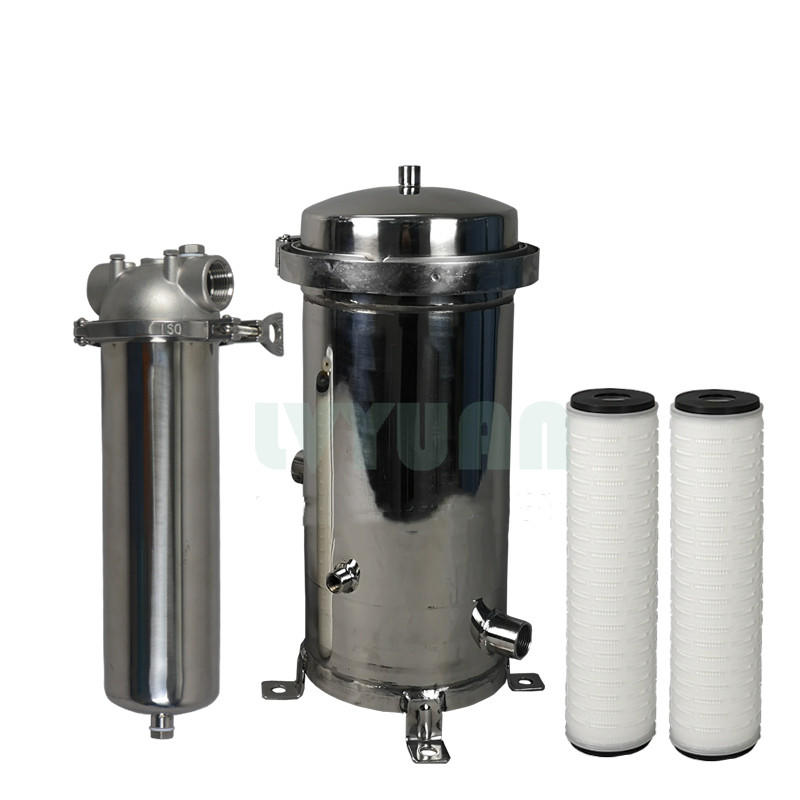 20 inch PP/pleated/sediment/SS cartridge filter security filter cartridge housing with NPT BSP thread port