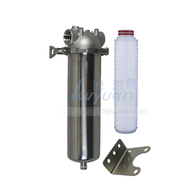Micro single water filtration system SS316 10 inch cartridge water filter housing for wall mounted/pipeline filtration