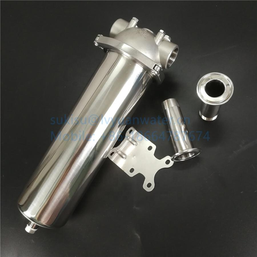 SUS316L SS304 Tri-clamp sealing Stainless steel Single Round Cartridge filter Vessel