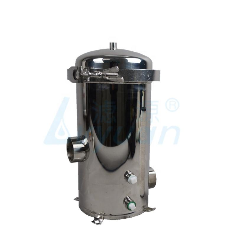 stainless steel filter cartridge housing for pre water treatment with 10 20 30 40 inch filter elements 3-7 cores.