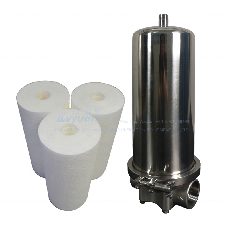 Simple operation stainless steel 10 inch 226 single cartridge ss304 cartridge filter housing for chemical fluid filtration