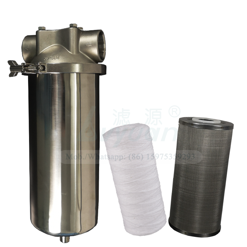 Jumbo water purifier housing 10/20 inch stainless steel 304 316L water cartridge filter housing with SS metal sediment filter