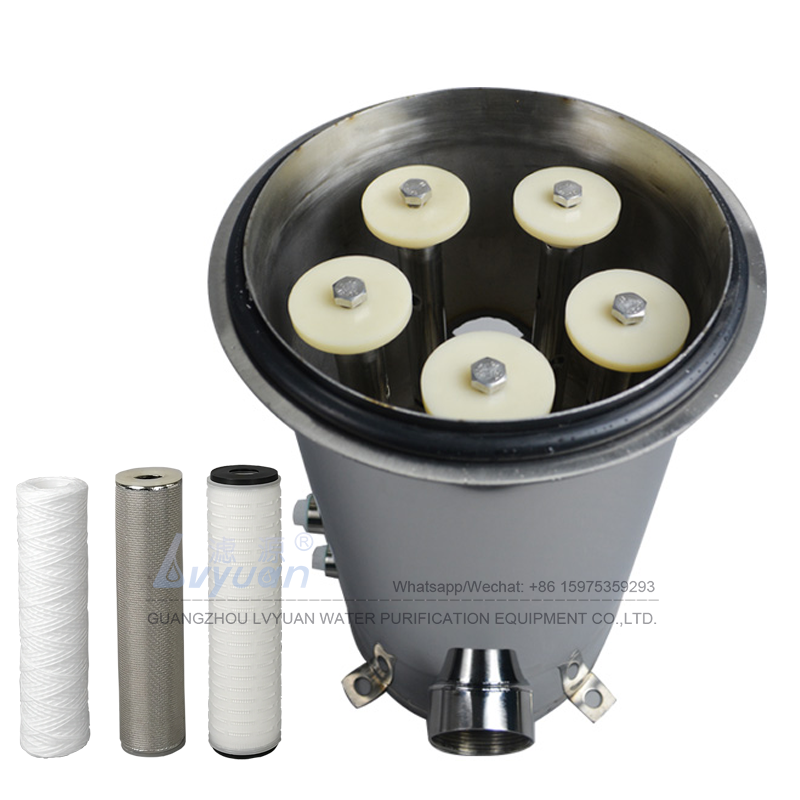 Customs brand stainless steel 304 316L 10 20 inch code 7 cartridge filter housing with string/pleated/titanium filter elements