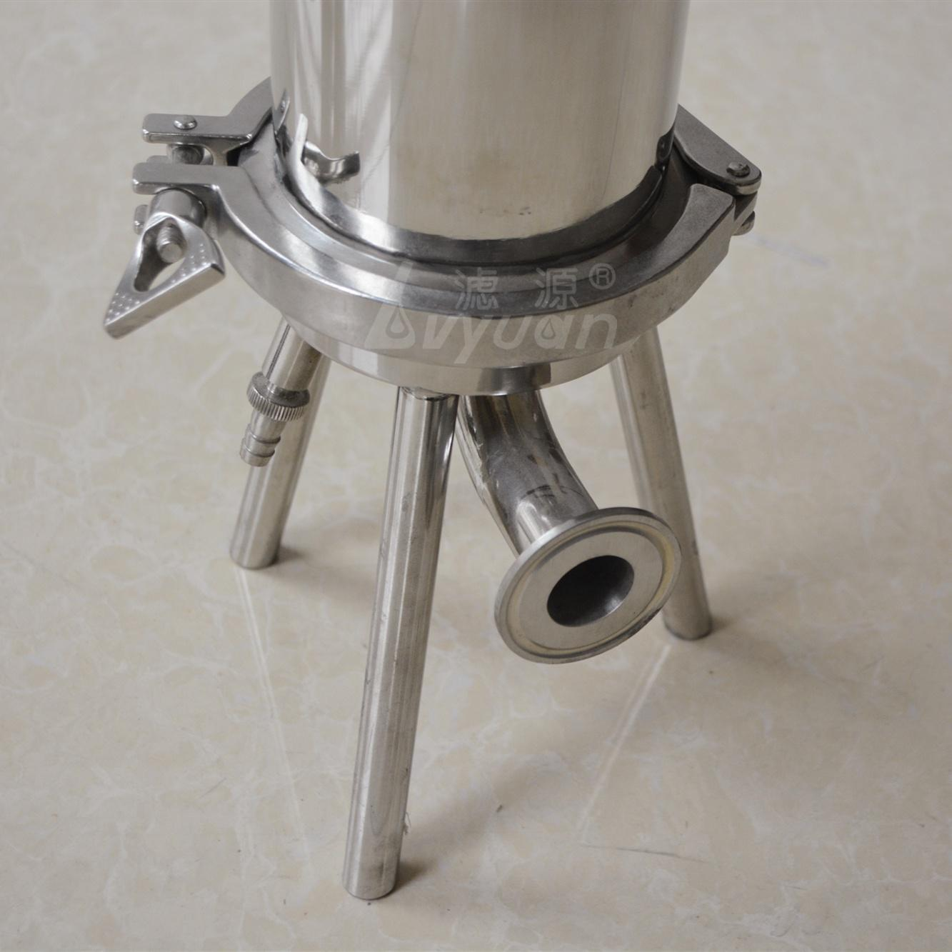10 inch stainless steel code 7 cartridge filter housing/single cartridge filter housing for water treatment