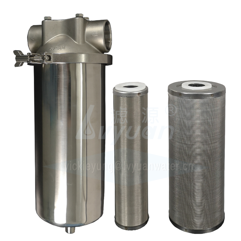 Jumbo water filter candle tri clamp 304 stainless steel cartridge filter type housing with 10