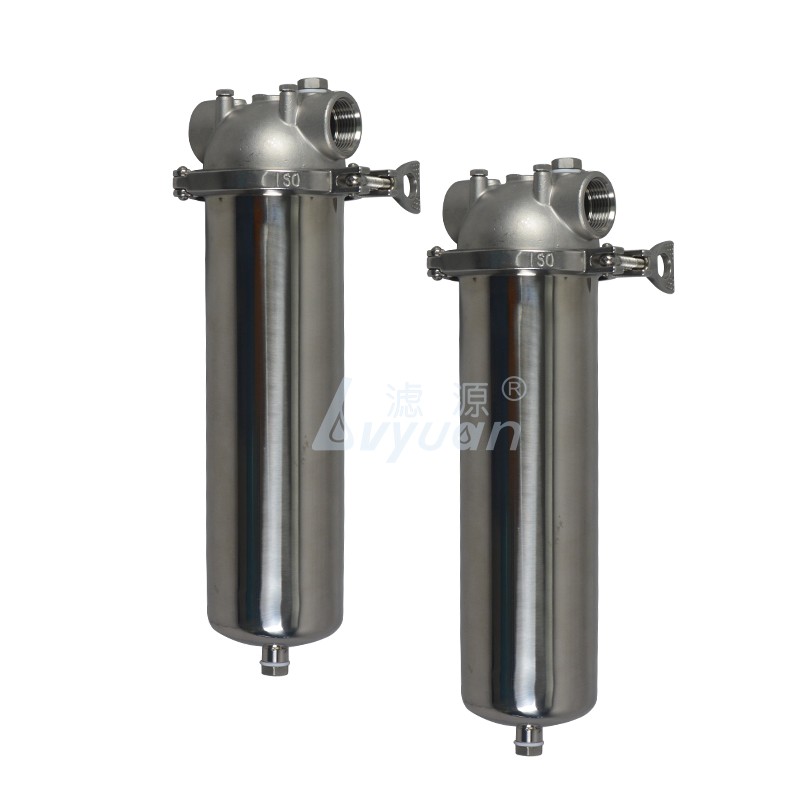 Food grade SS304 single core 10 inch stainless steel water filter housing for industrial liquid oil filtration