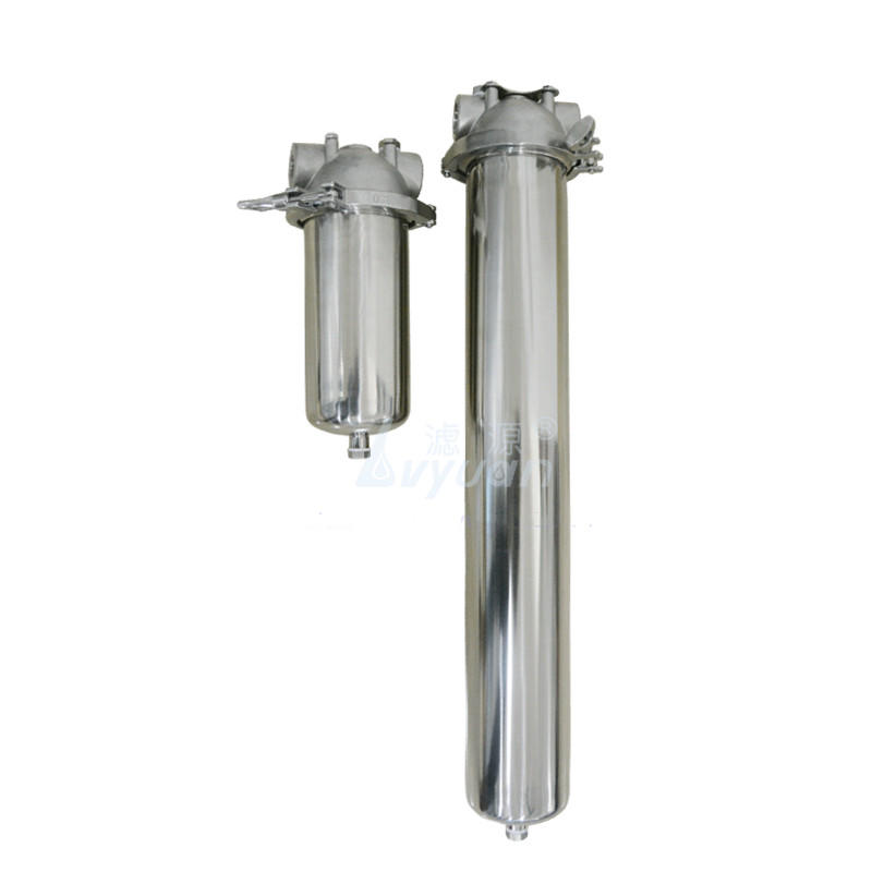 SS304 316L material 2.5/5/10/20 inch stainless steel water filter housing with SS powder 5 micron cartridge filter 50 microns