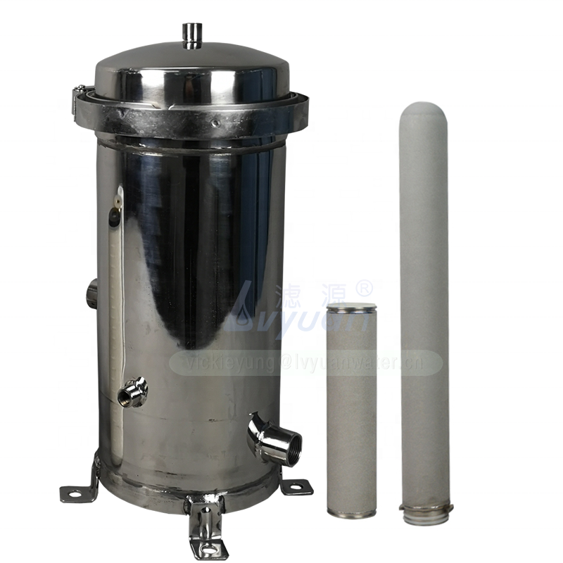 Food grade quality SS 304 316L industrial stainless steel filter housing/titanium cartridge water filter housing 10 20 inch: