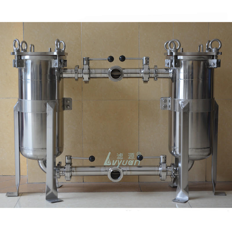 Single precision water filter stainless steel 10 inch SS316 filter housing with SS 20 microns pleated cartridge filter element