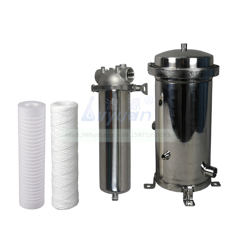 Slim & big blue single stage filter 222 226 code stainless steel cartridge water filter housing for home/industrial water filter