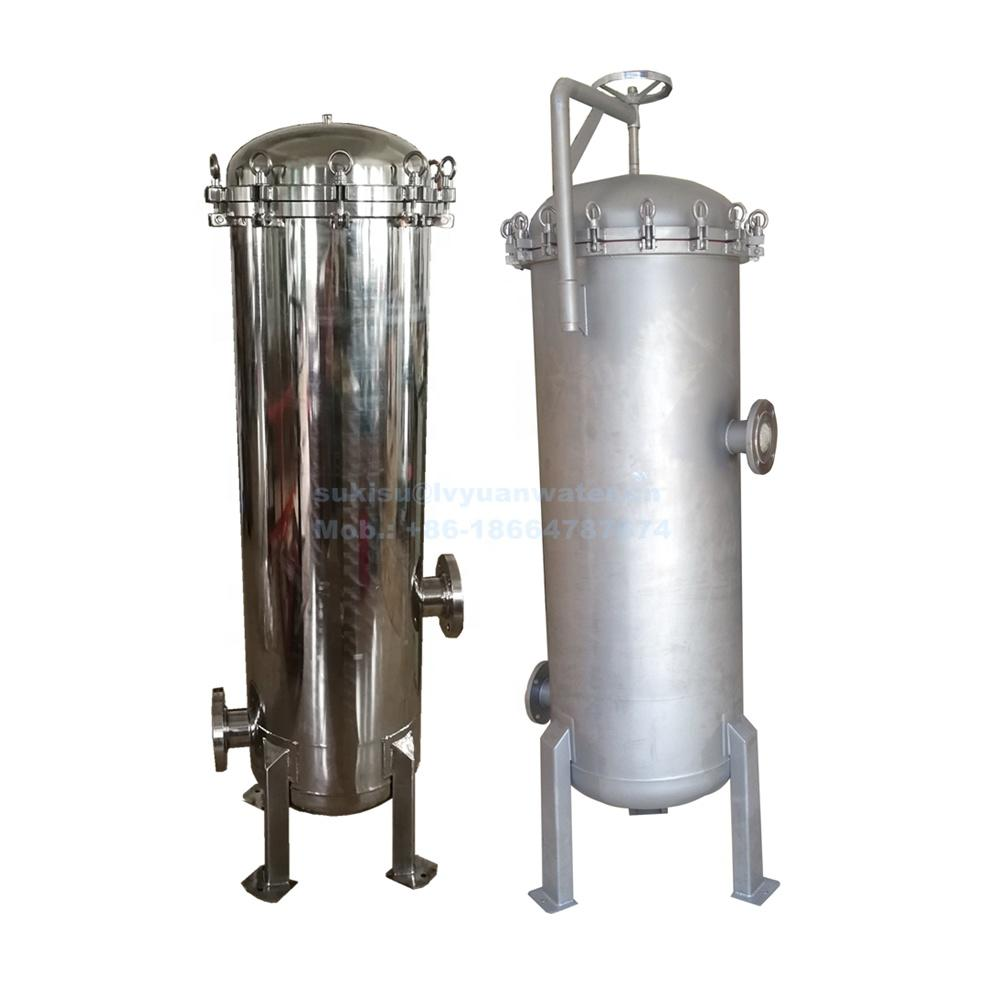 High Flow 30 40 inches stainless steel multi filters security precision filter housing for Multi-cartridge liquid filtering tank