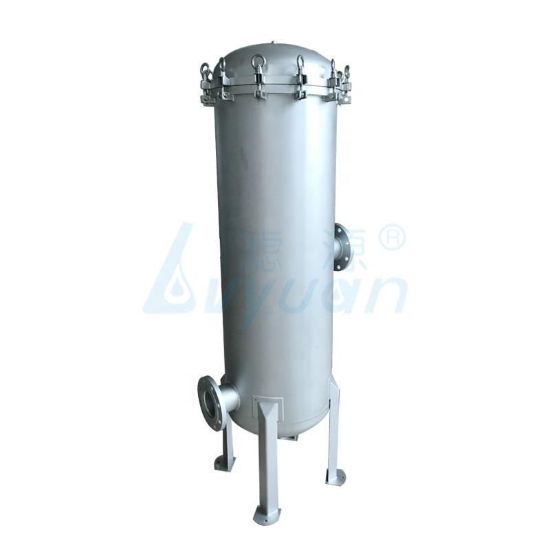 40 inch high flow rate stainless steel cartridge filter housing with water cartridge filter