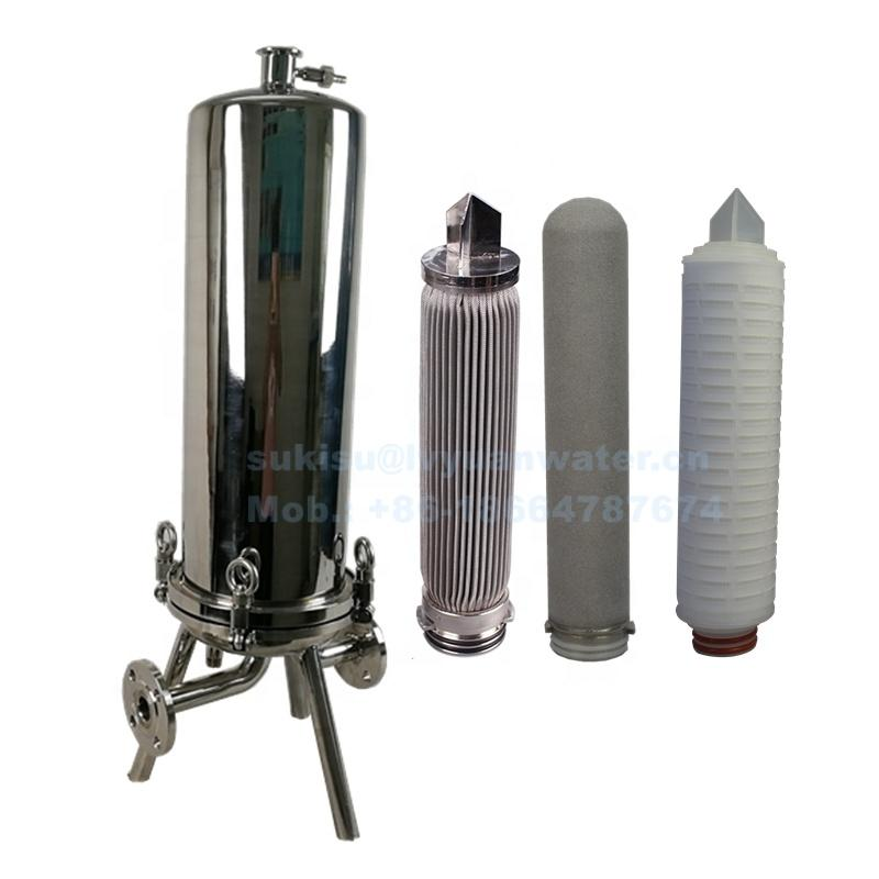 Industrial SS 316 304 Food grade stainless steel multi cartridge filter housing for 0.1 0.2 0.45 micron water filters