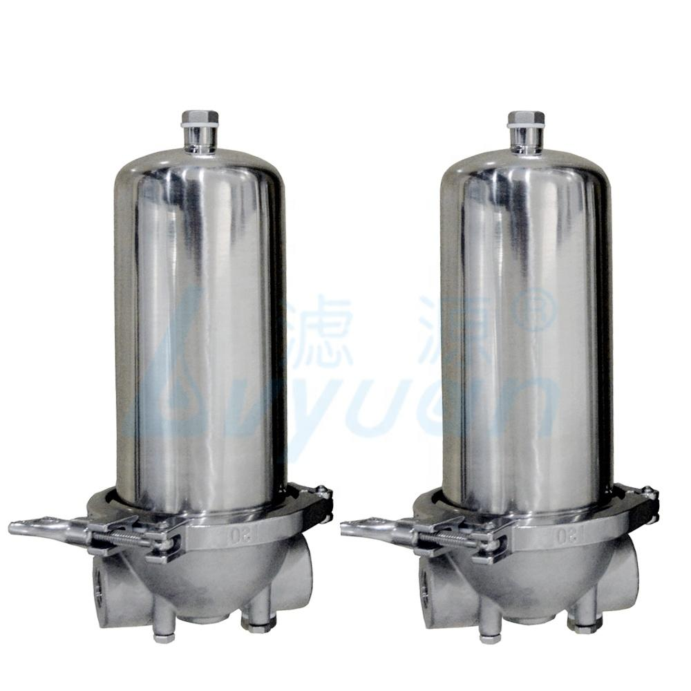 10 inch big water filter jumbo size clamp closure stainless steel filter housing with 10''*4.5'' sintered metal mesh filter