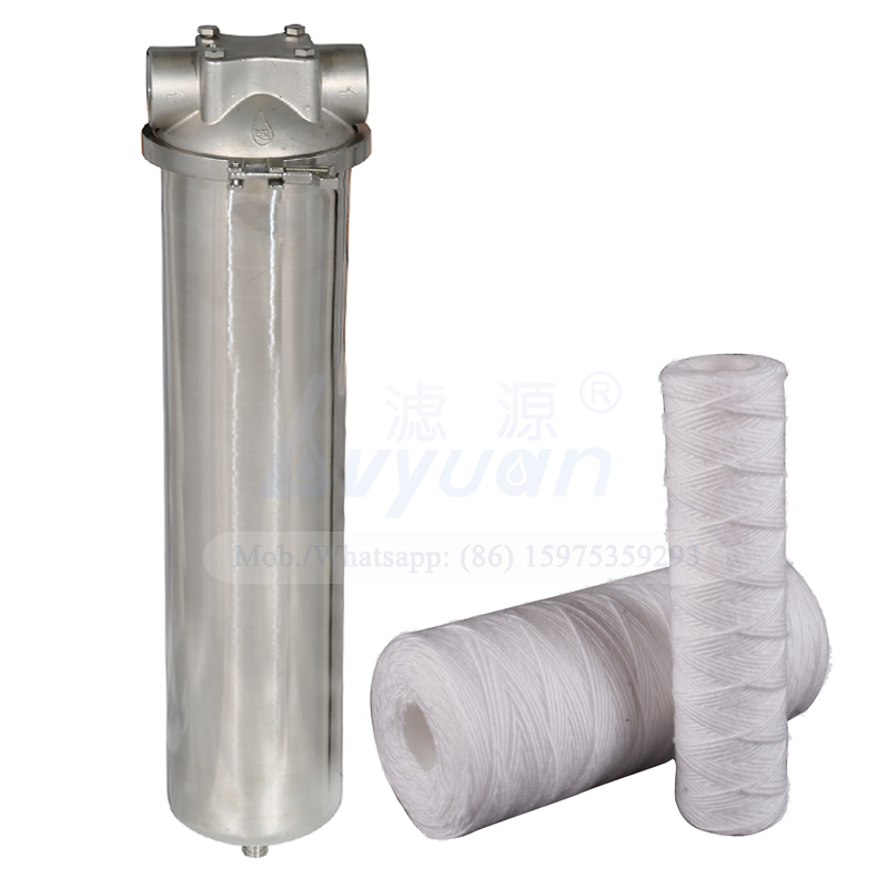 Big water flow rate jumbo size 10 20 inch single filter stainless steel filter vessel for high working water inlet pressure