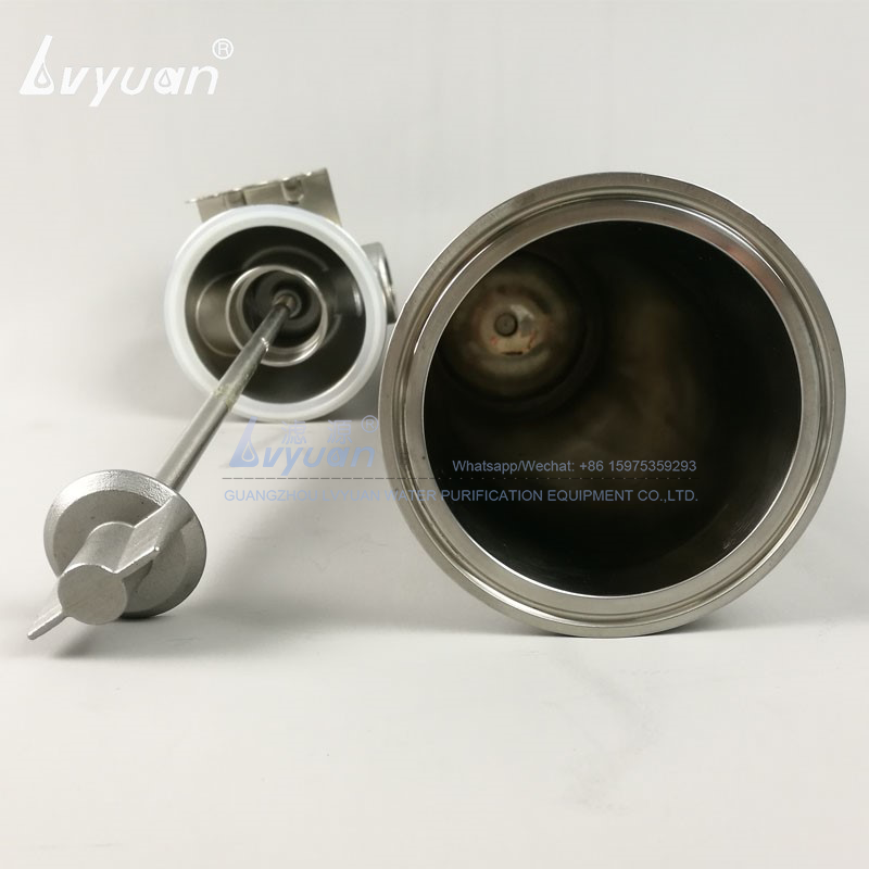 Wall mounted SS single 304 316L stainless steel security filter code 10 inch filter housing with housing clamp