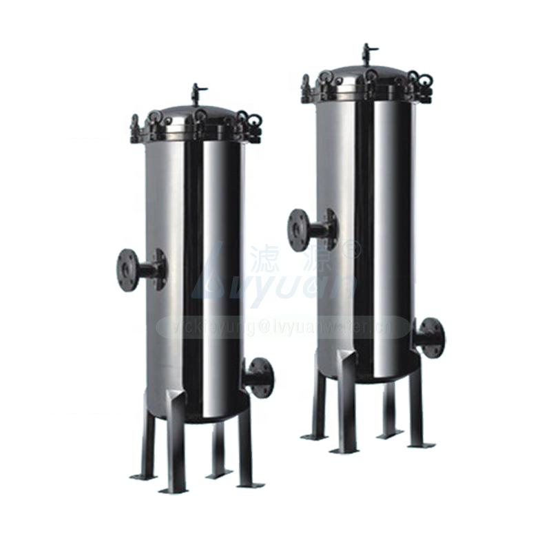 Pure SS 316L stainless steel material 10 20 inch wine filter housing with absoluted microns water cartridge filter