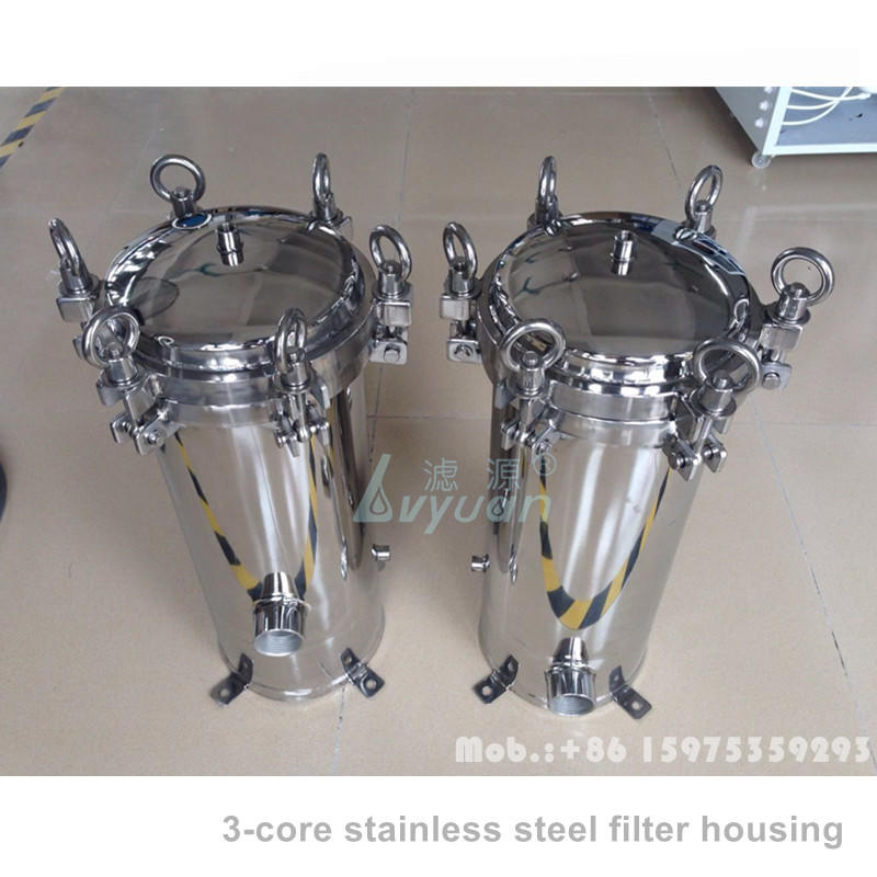 Big flow rate 5 cores 10 Inch stainless steel filter housing for RO water treatment system machine