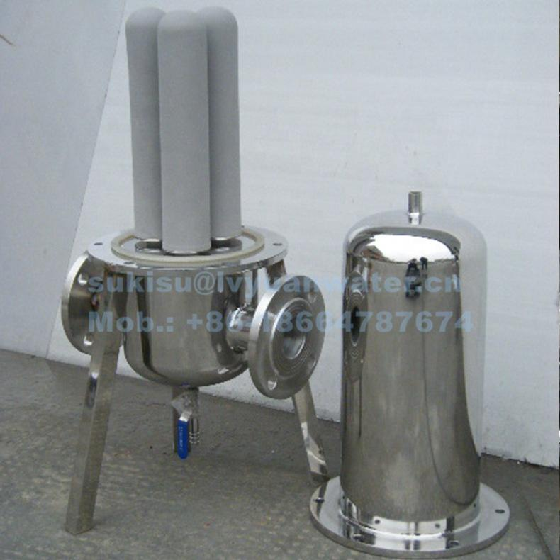 High Pressure Stainless Steel 0.2 micron Steam Air Filter Housing for Clean Sterile gas filtration element
