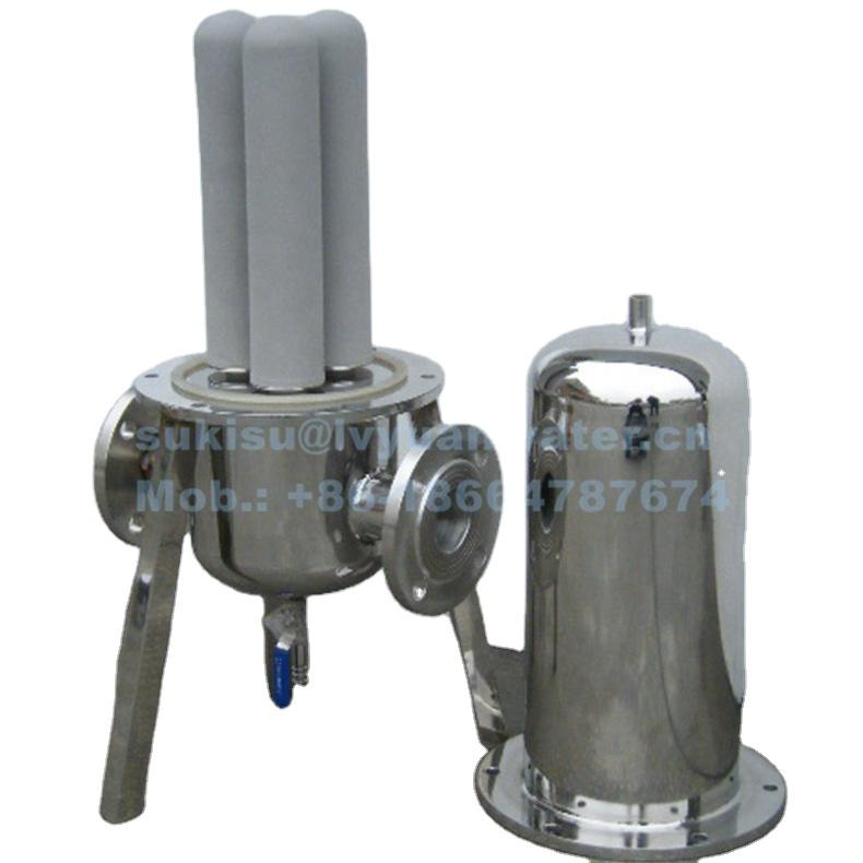High flow Multi Round cartridge Steam Filter housing for industrial compressed air precision filters holder