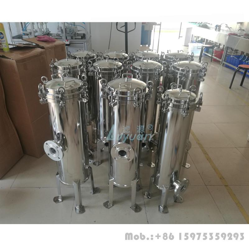 High flow capacity jumbo 40/60 inch cartridge seawater filter housing with big diameter 6.5