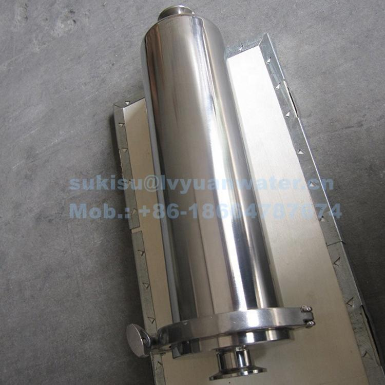 0.1 0.2 micron Quick open straight flow inline stainless steel Air Filter with Clamp connection 5/10/20/30 inch