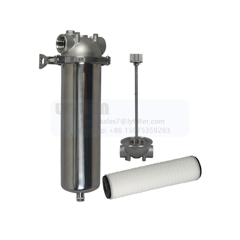 Drinking Water Filter Treatment stainless steel 10 Inch water cartridge filter housing with 5 micron single cartridge filter