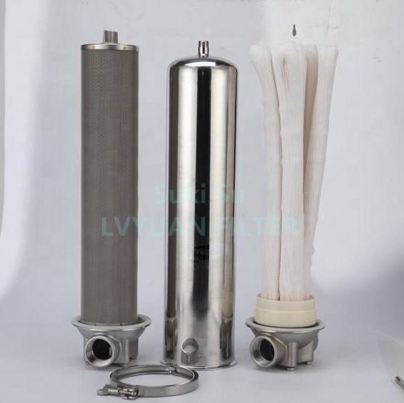 SS Liquid Beverage Filtration Equipment Stainless Steel Single round cartridge Multi filter vessel holder Water Filter Housing