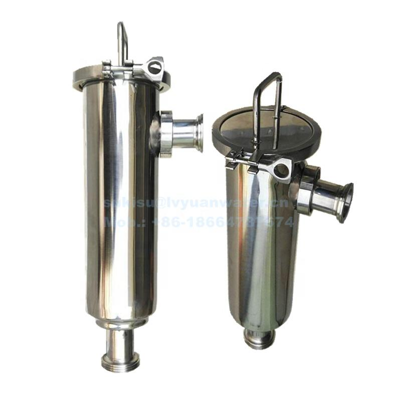 10 20 inch SUS314/316L 5 core V-clamp cartridge filter housing stainless steel filter housing