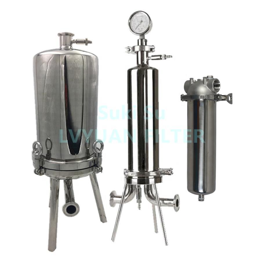 High pressure membrane filter holder stainless steel for liquid wine filterability housing
